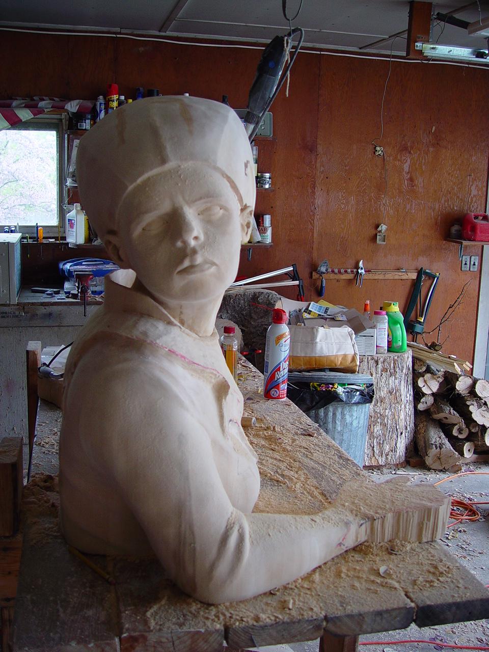 queen sculpture in progress seven