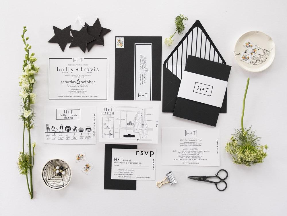 holly suite minimalist wedding invitation image 2