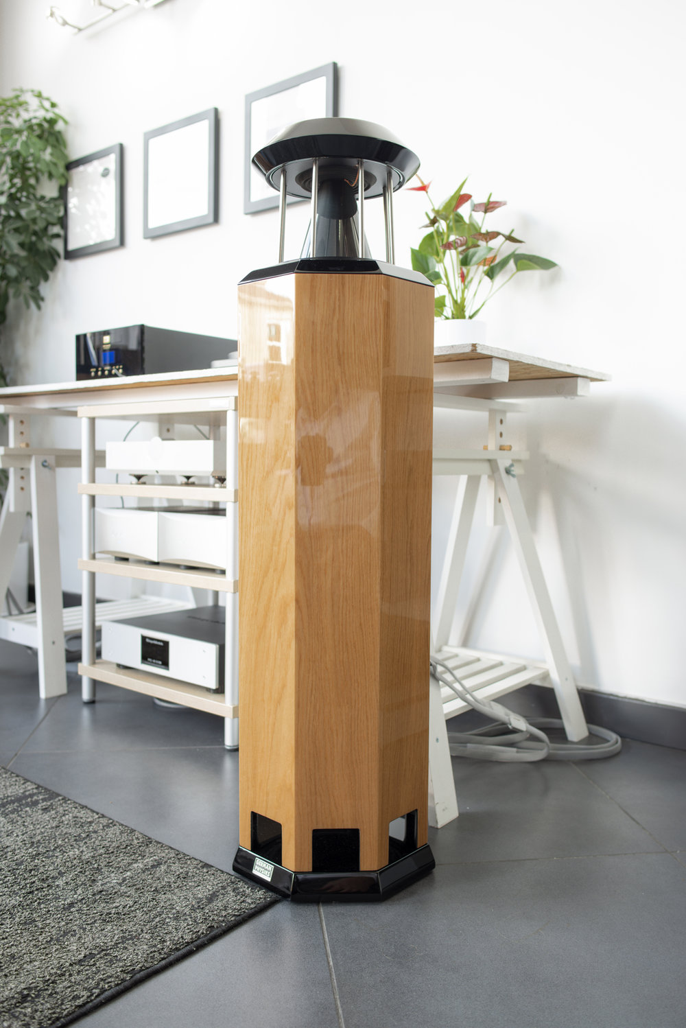 HRS-130 loudspeaker in high polish oak | Audio-philia, Edinburgh, Scotland