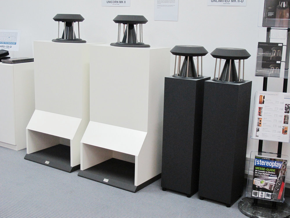 Unicorn MK II and Unlimited loudspeakers | Munich Hi-Fi Show 2013, Germany