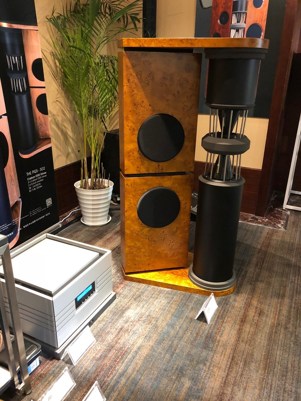 PQS-302 loudspeaker with Emperor Extreme mono amplifier | Shanghai Show 2018, China