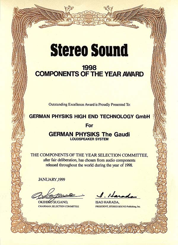 Gaudi Stereo Sound Component of the Year 1998 .jpg