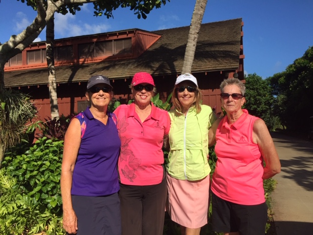 My golf foursome, three great women to spend time with.
