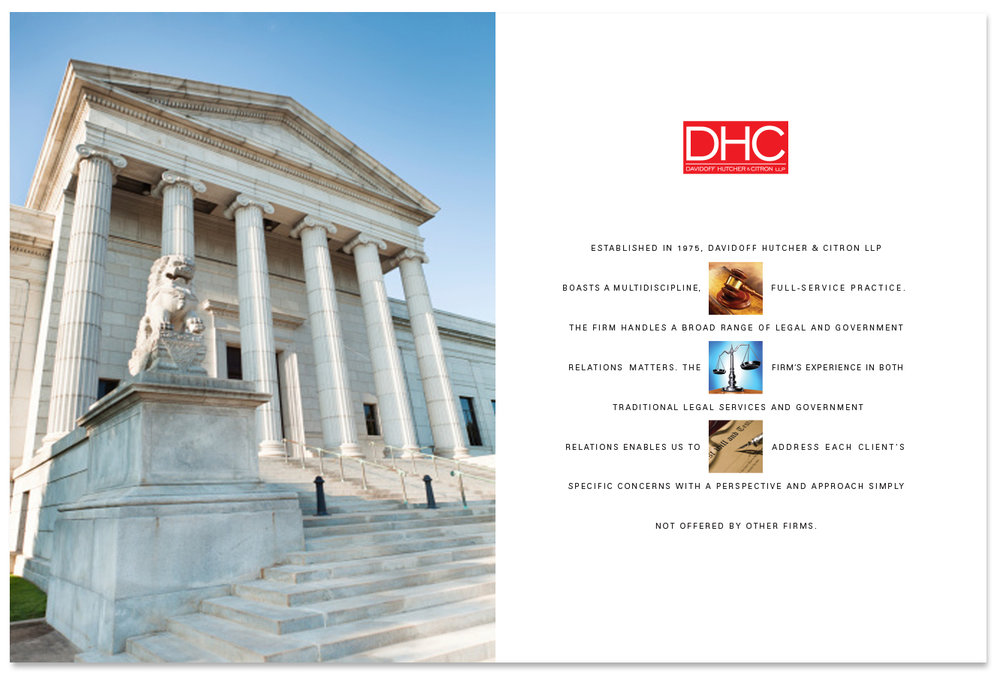 Title page - brochure interior page design