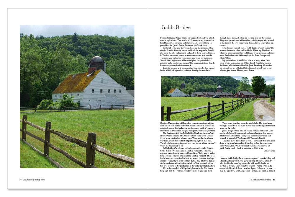 Barn Stories from Roxbury, CT spread design