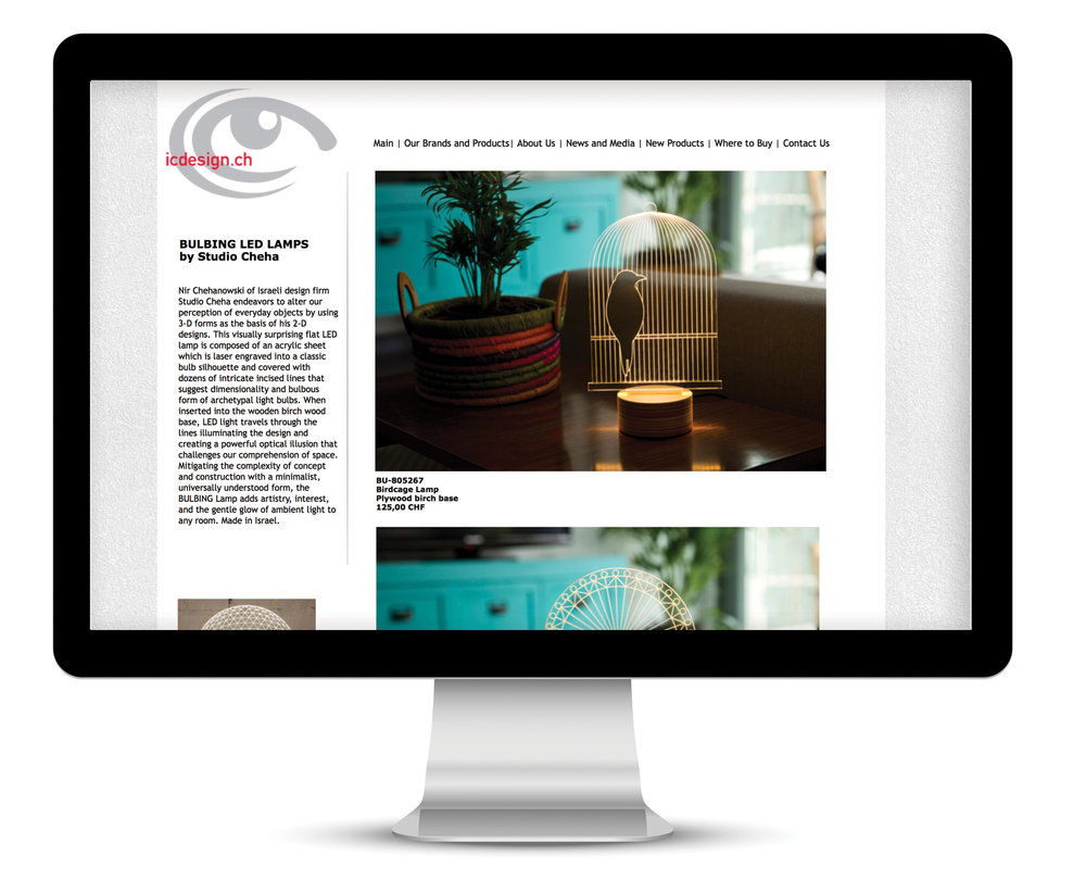IC Design Website sample product page