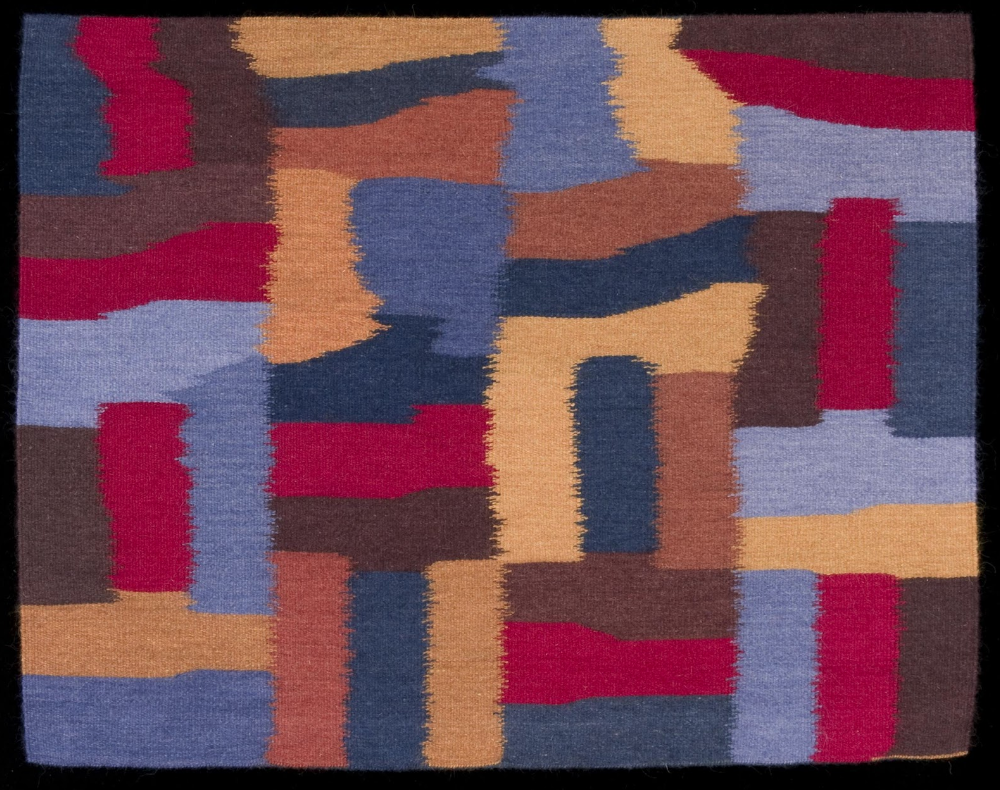"""Transition, 2006, handwoven tapestry; wool, dyes  31""""h x 39""""w"""