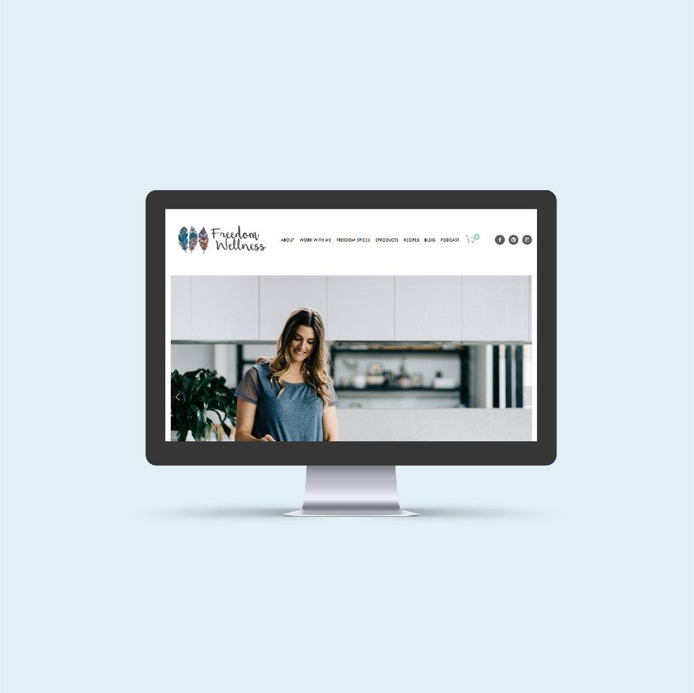 FREEDOM WELLNESS   Website Design