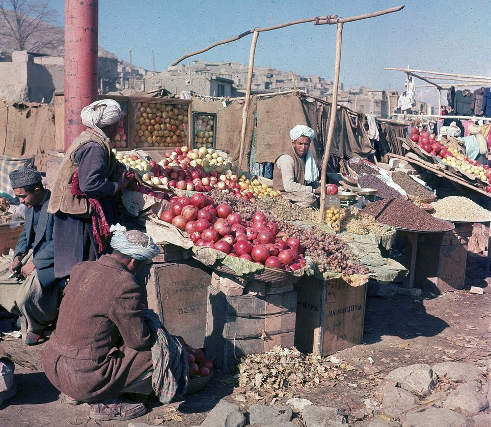 Afghanistan Fruit Stand, AP Photo, H. Bradsher