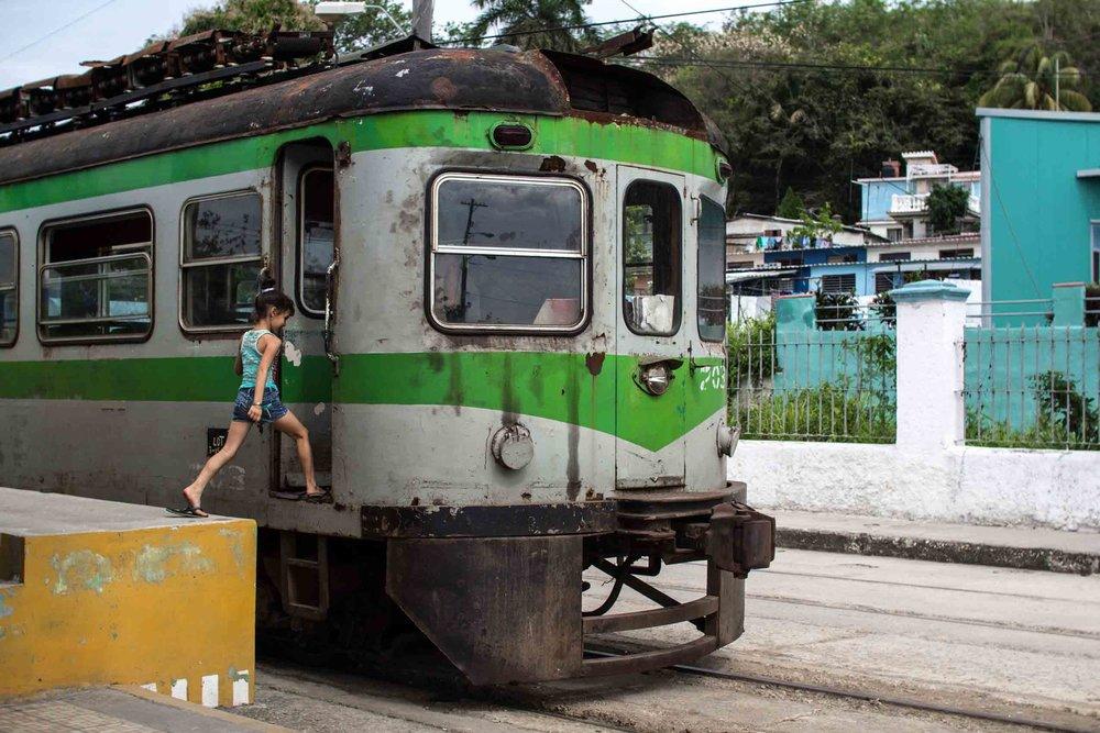 Train in Cuba