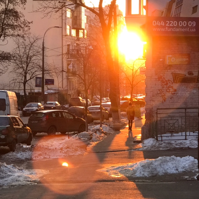 Sunlight in Kyiv, Ukraine
