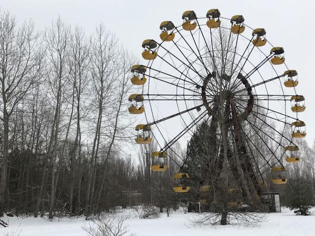 Ferris wheel in Chernobyl, Ukraine