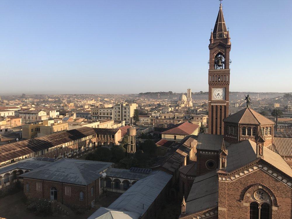 Buildings in Asmara, Eritrea