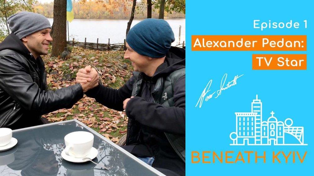 Ukrainian TV star Olexandr Pedan and Peter Santenello
