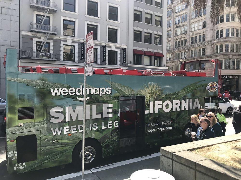 Marijuana bus in San Francisco, US