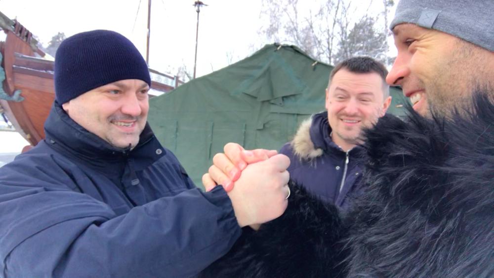 Happy Peter Santenello and Ukrainian guys