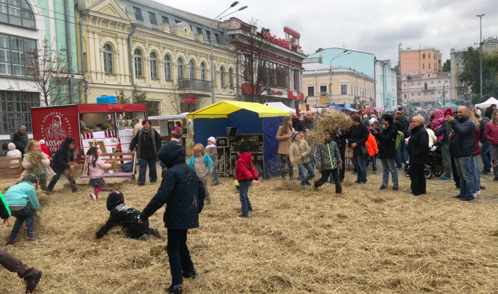 Happy people in Kyiv, Ukraine