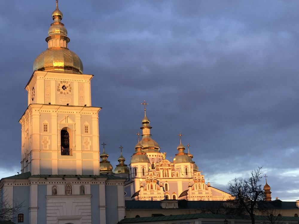 Beautiful domes of churches in Ukraine