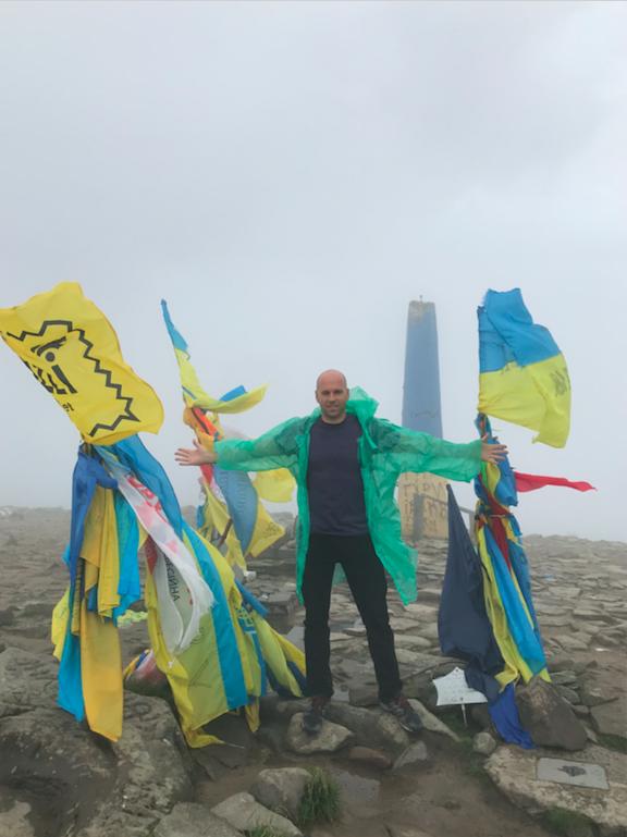Peter Santenello on Mount Hoverla in Ukraine