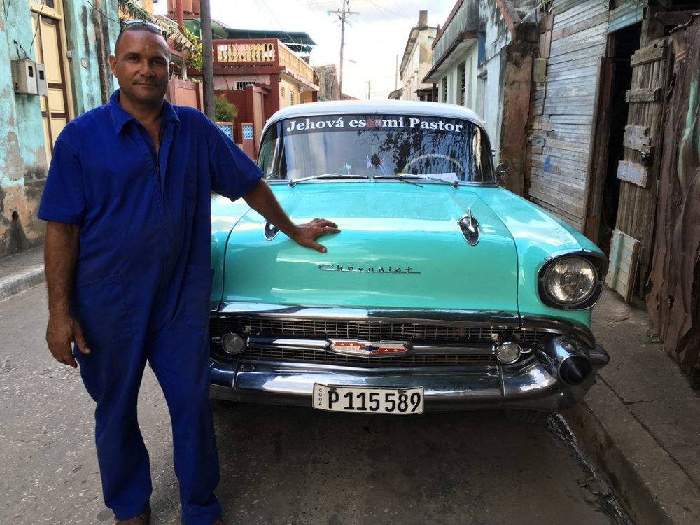 Cuban and his car