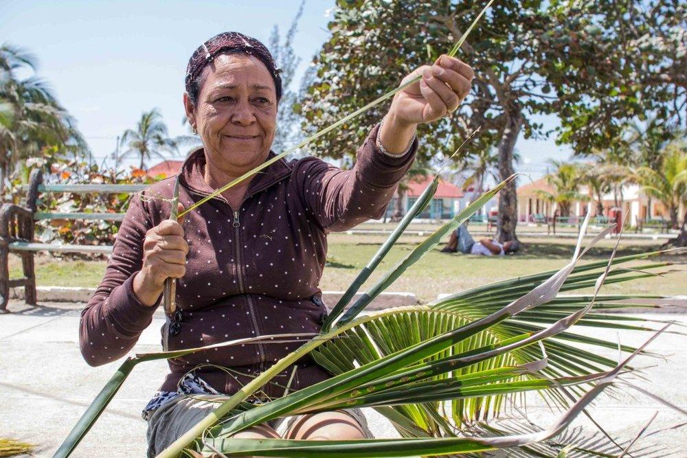 Old Cuban woman
