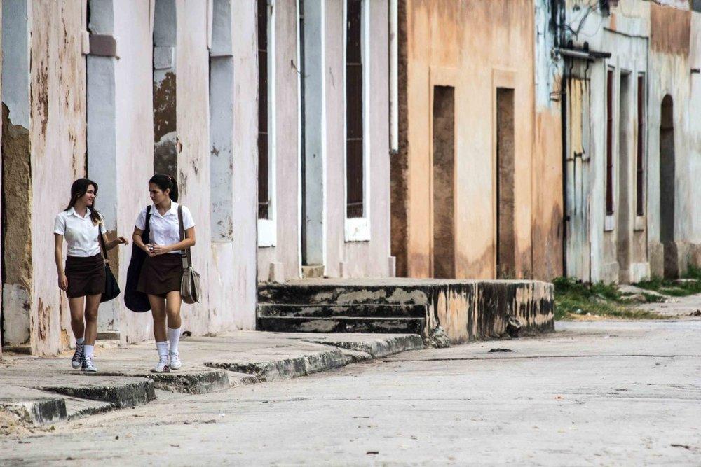 Too schoolgirls in Cuba