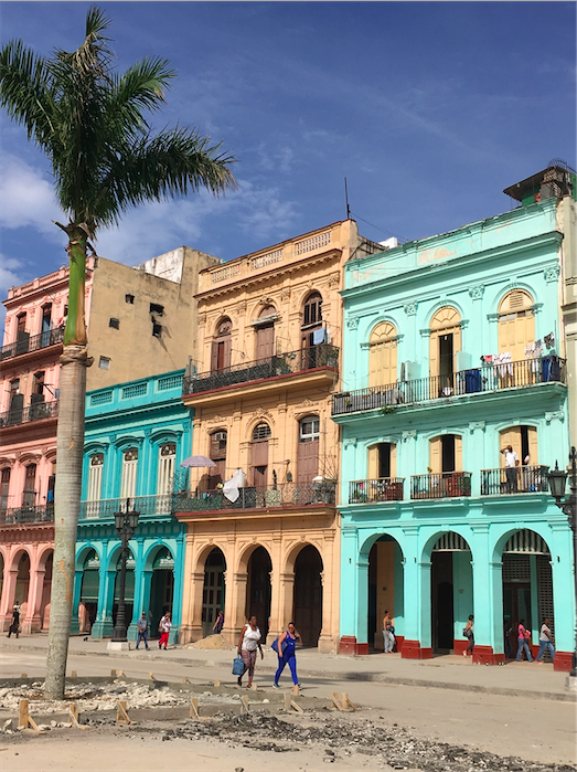 Colorful buildings in Cuba