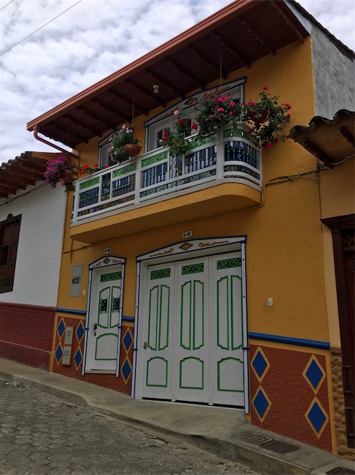 Colorful building in Colombia
