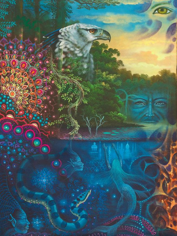 Ayahuasca colorful image