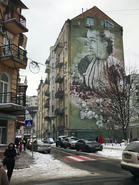 Beautiful mural in Kyiv, Ukraine