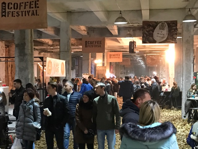 Coffee festival in Kyiv, Ukraine