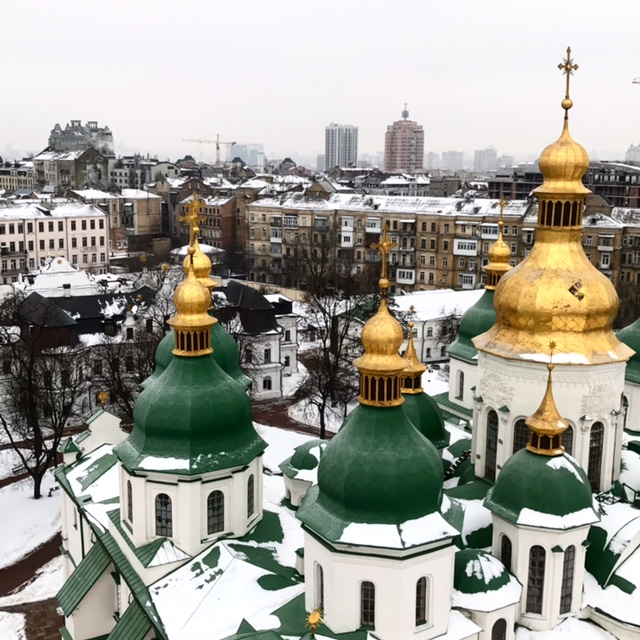 Beautiful church in Kyiv, Ukraine