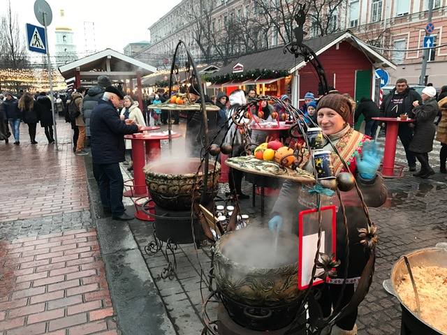 Holiday market in Kyiv, Ukraine