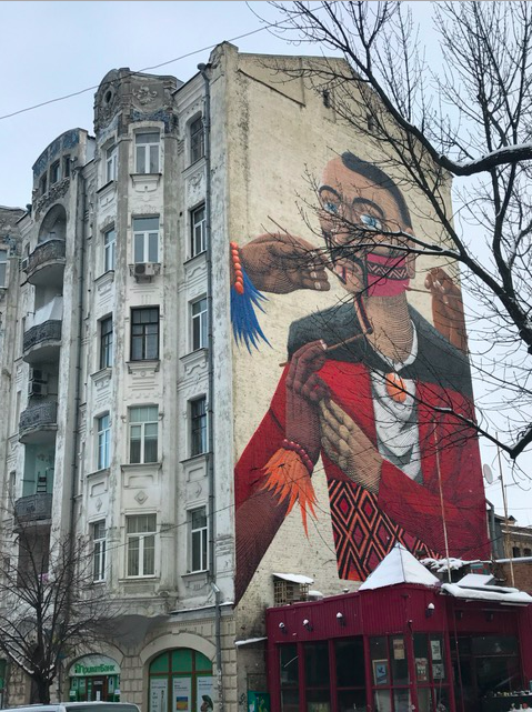 Huge mural in Kyiv, Ukraine