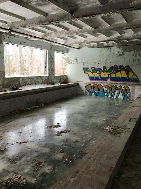 Indoor swimming pool in Pripyat, Chernobyl