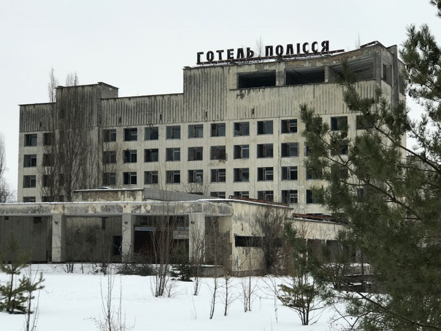 Abandoned hotel in Chernobyl