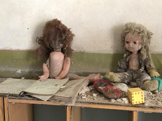 Dumped dolls in Chernobyl