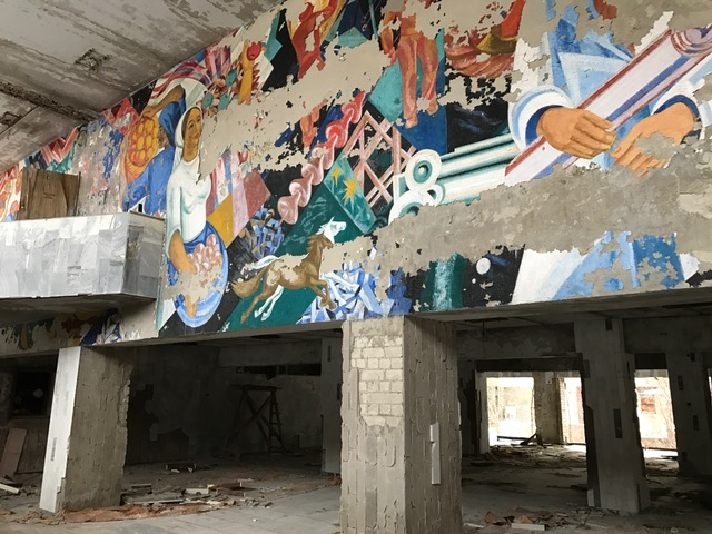Abandoned cultural center in Chernobyl