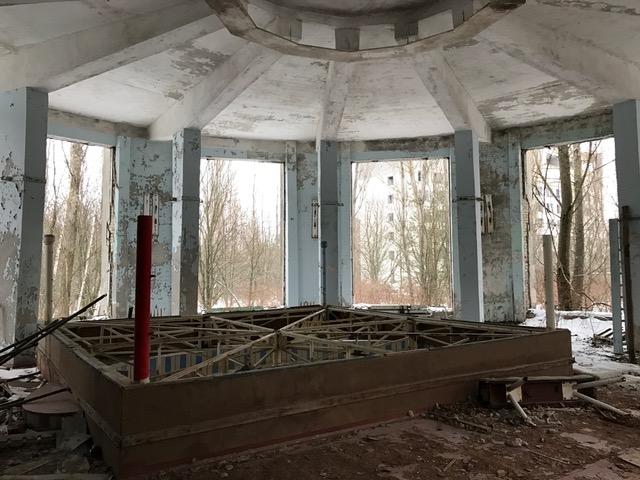 Boxing ring in Chernobyl