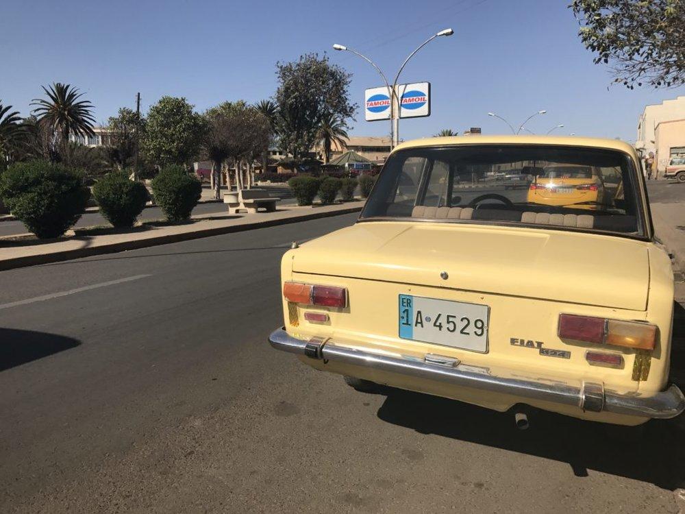 Old Italian car in Asmara, Eritrea