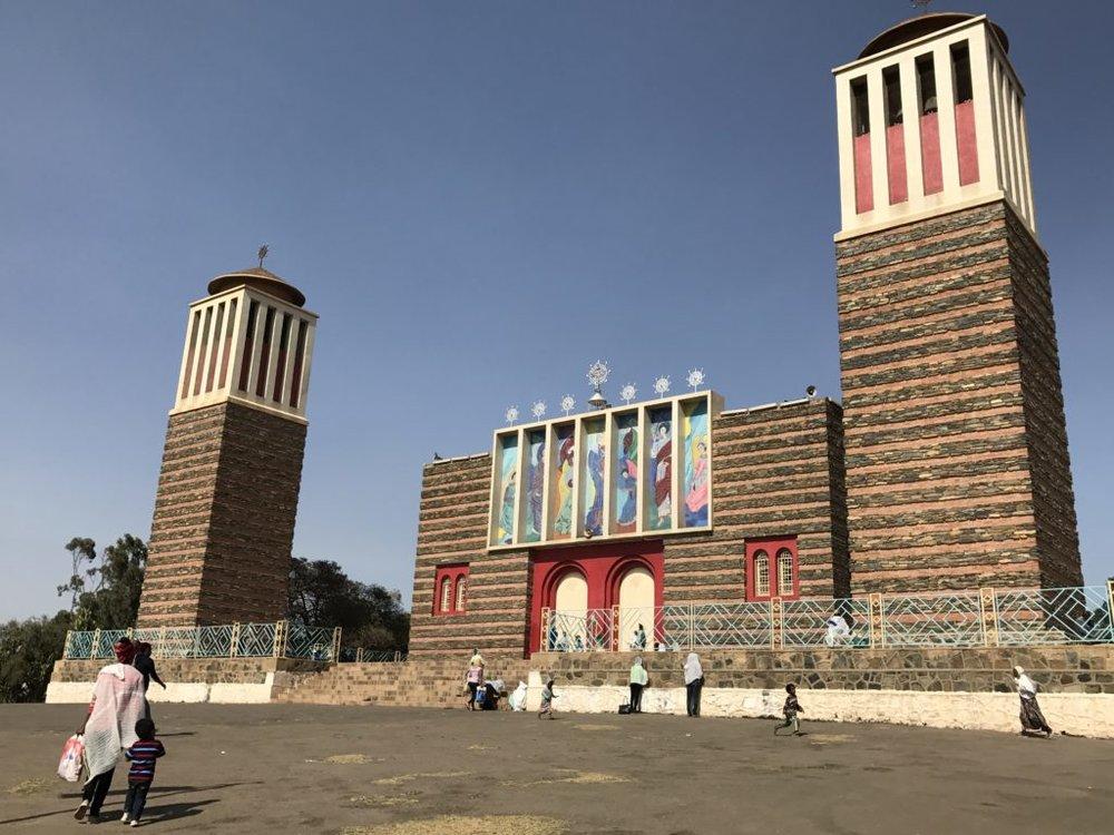 Art Deco-looking cathedral in Asmara, Eritrea