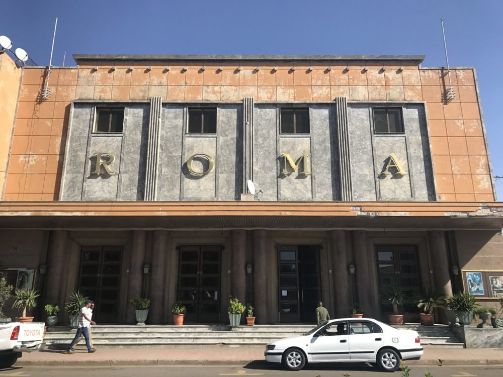 Retro theater in Asmara, Eritrea