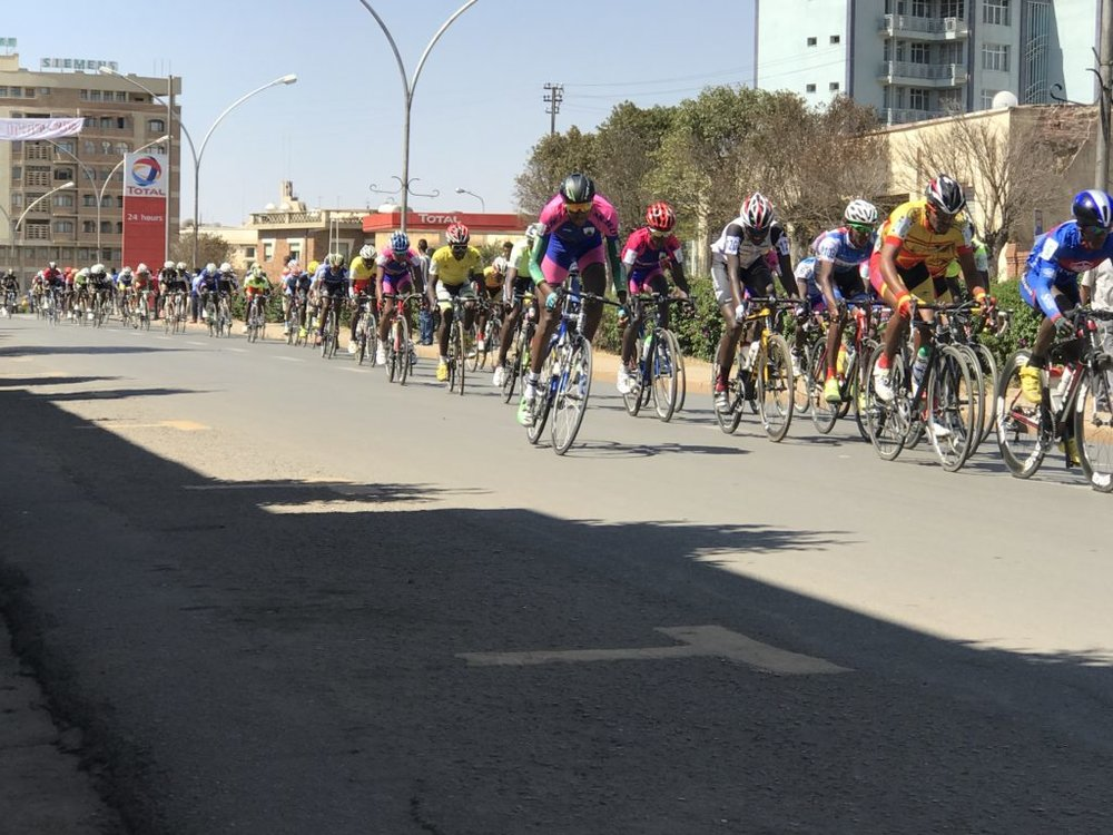 Cycling competition in Asmara, Eritrea