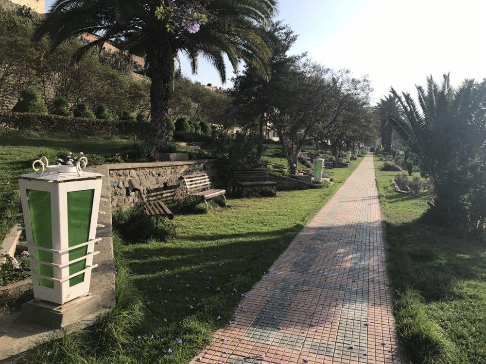 The park in Asmara, Eritrea