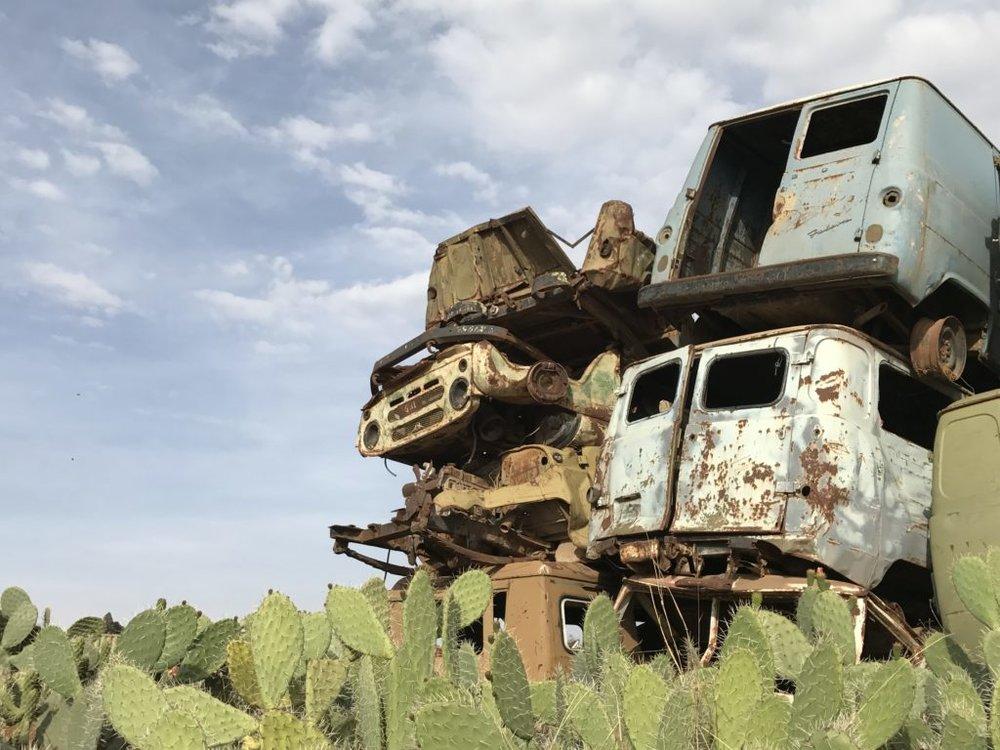 Car graveyard in Eritrea