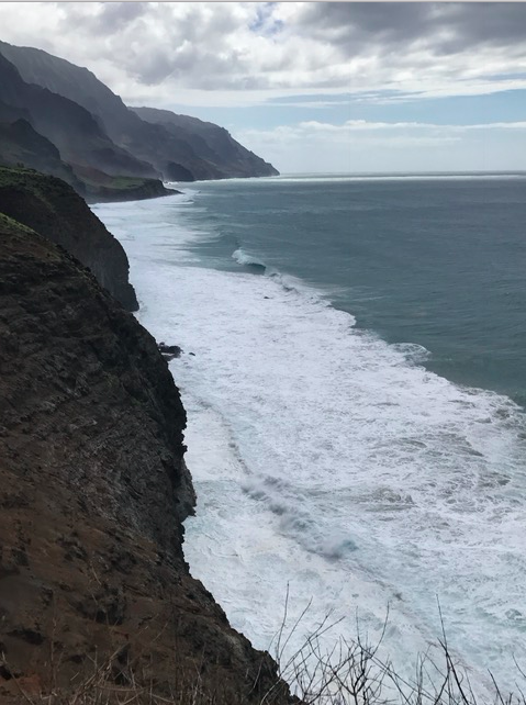 Coastline in Kauai