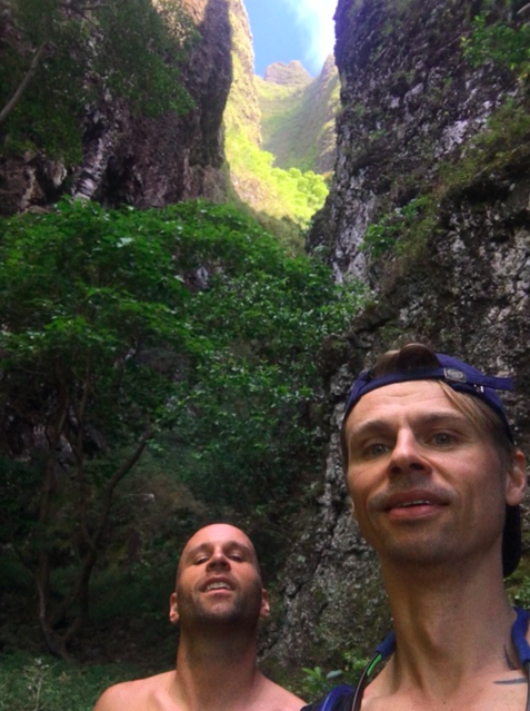 Two Americans are hiking in Kauai