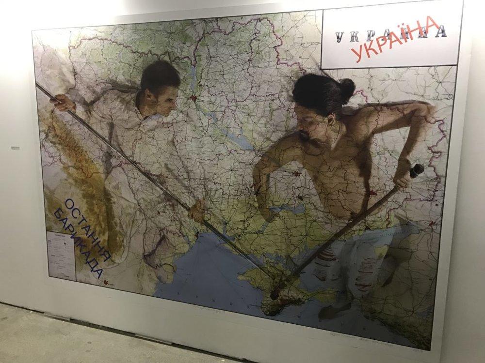 Ukraine and Russia battle (art) in Ukraine