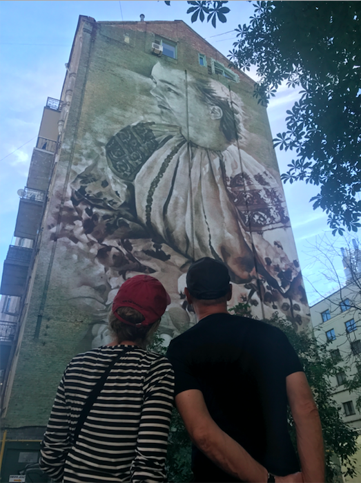 Modern mural in Kyiv, Ukraine