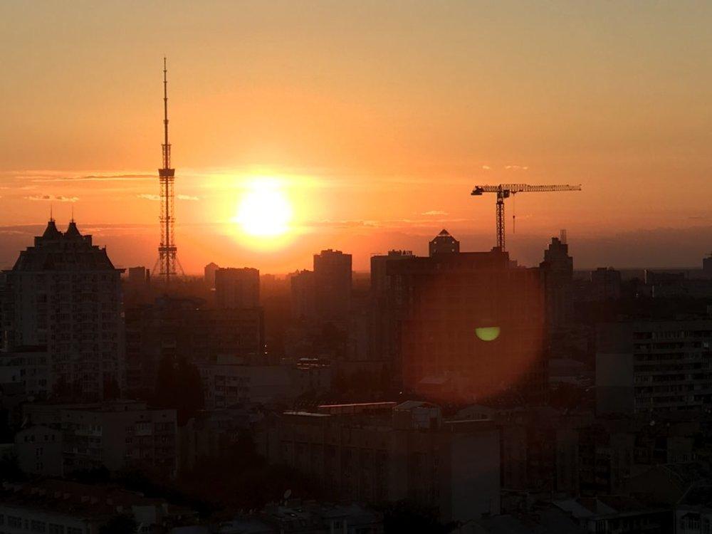 A beautiful sunset in Kyiv, Ukraine